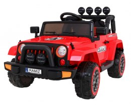 Auto na akumulator Jeep Full Time 4WD 4x4 Czerwony