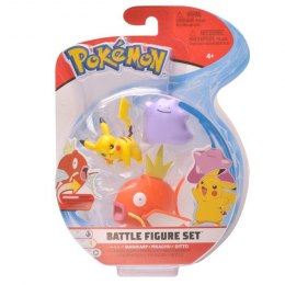 Pokemon Battle zestaw 3 figurek - Pikachu/Magikarp/Ditto
