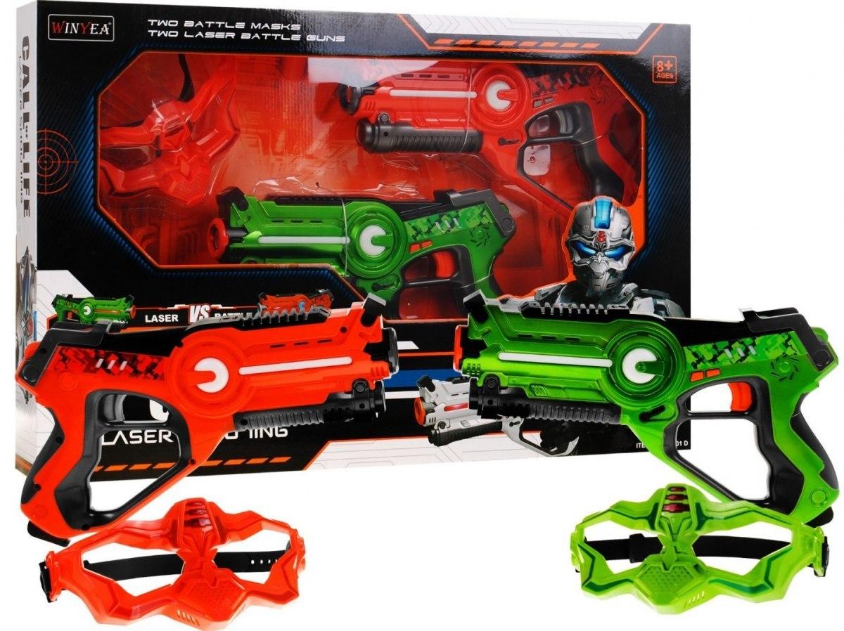 Zestaw Pistoletów Laserowych Call of Life - Laser tag Kolorowe - 2x pistolet 2x maska