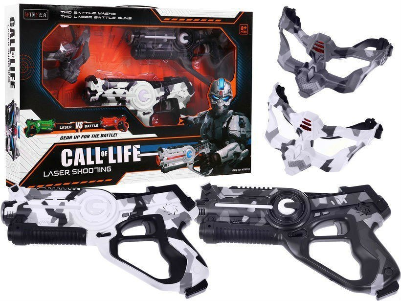 Zestaw Pistoletów Laserowych Call of Life - Laser tag Moro 2x pistolet 2x maska