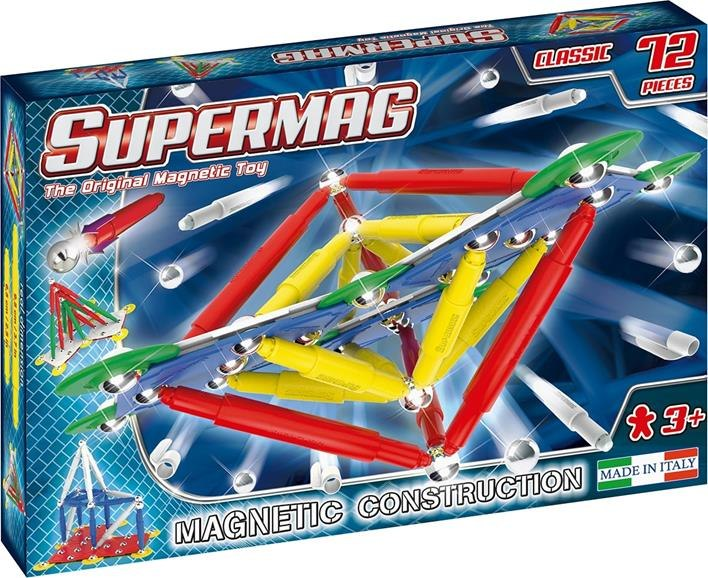 Klocki magnetyczne Supermag Classic Primary 72
