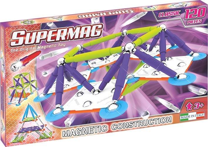 Klocki magnetyczne Supermag Classic Trendy 120