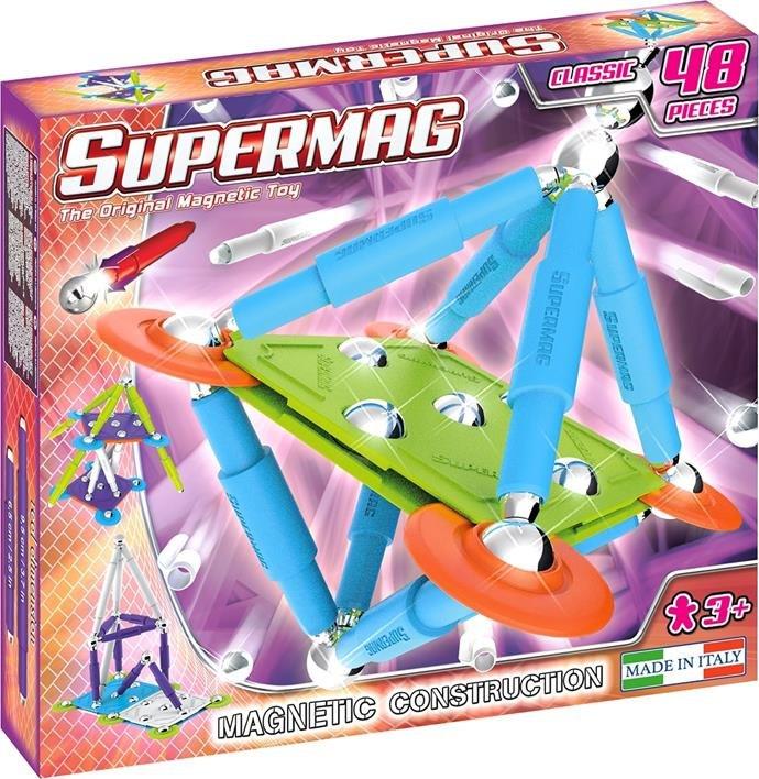 Klocki magnetyczne Supermag Classic Trendy 48