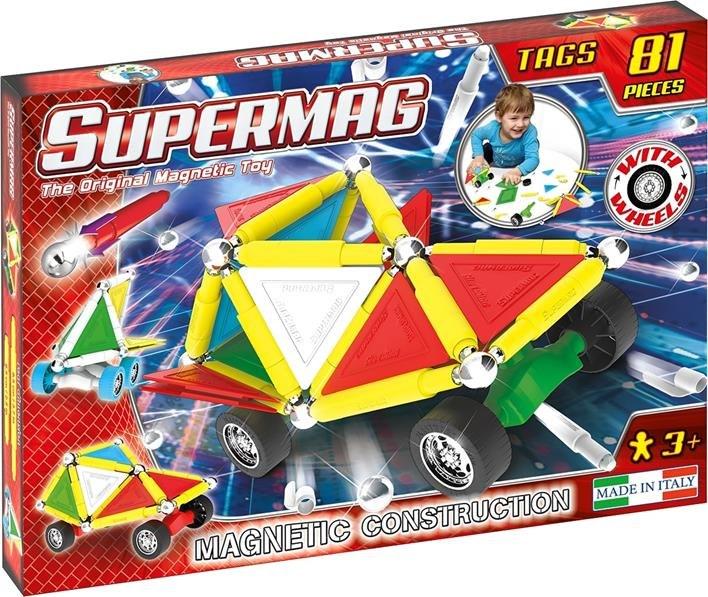 Klocki Magnetyczne Supermag Tags Wheels 81