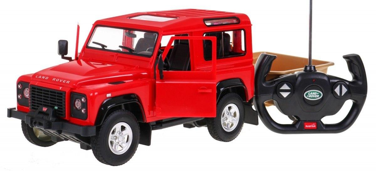 Autko R/C Land Rover Defender Czerwony 1:14 RASTAR