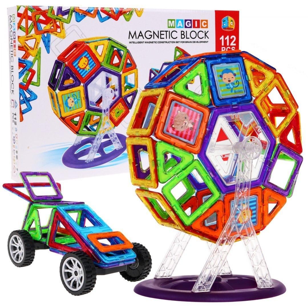Magiczne Klocki Magnetyczne 112 elementów