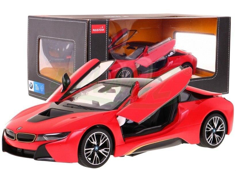 Autko zdalnie sterowane samochód R/C BMW i8 Czerwony 1:14 RASTAR