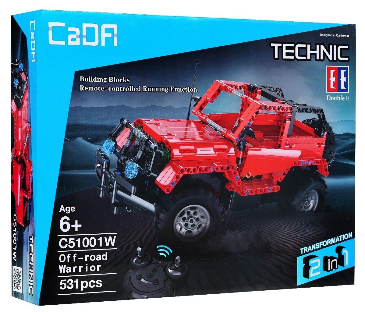 Image of Klocki Technic zdalnie sterowane - Autko Terenowe Czerwone CaDA C51001W