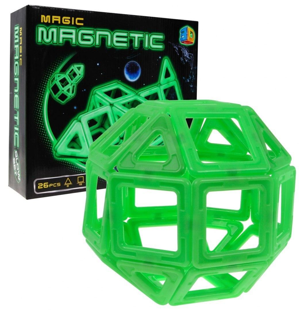 Magiczne Klocki Magnetyczne Świecą W Ciemności