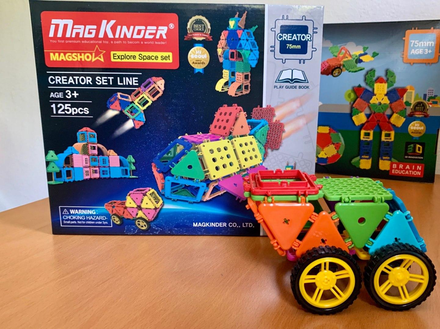 Image of Klocki konstrukcyjne MAGKINDER płytki 125 elementów - Esplorer Set