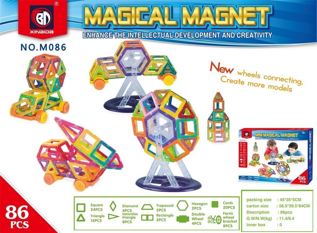 Klocki Magnetyczne Zestaw 86 elementów