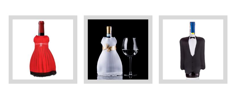 przybrania butelka wina