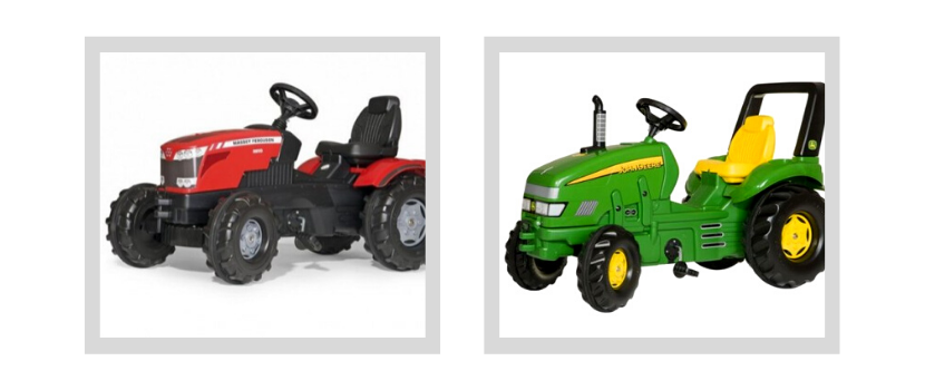 traktorki na pedały